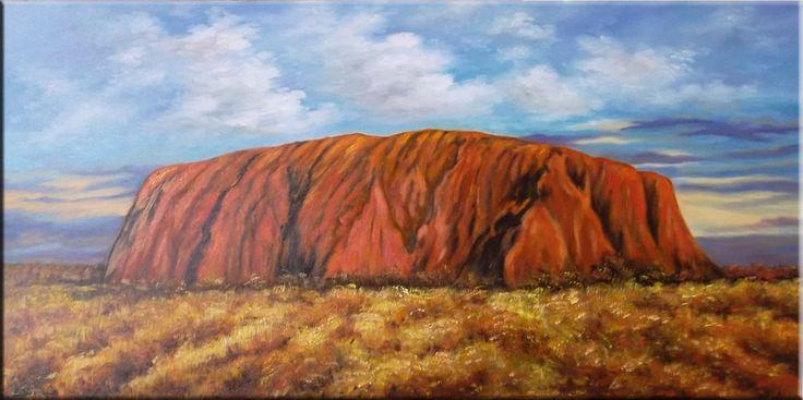 Ayers Rock Landschaft Original moderne Ölmalerei Handmalerei Ölgemälde kaufen