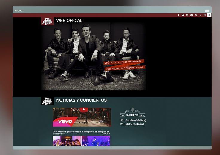 diseño web para grupo d·vicio.