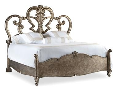 Shop for hooker furniture rhapsody king fretwork bed 5270 for Bedroom furniture limerick