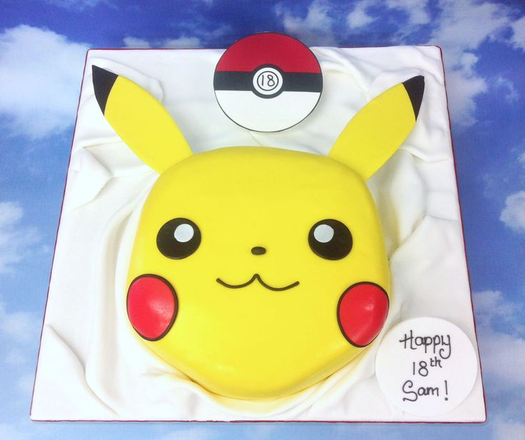 how to draw pikachu on a cake