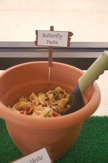 ,butterfly pasta for garden party
