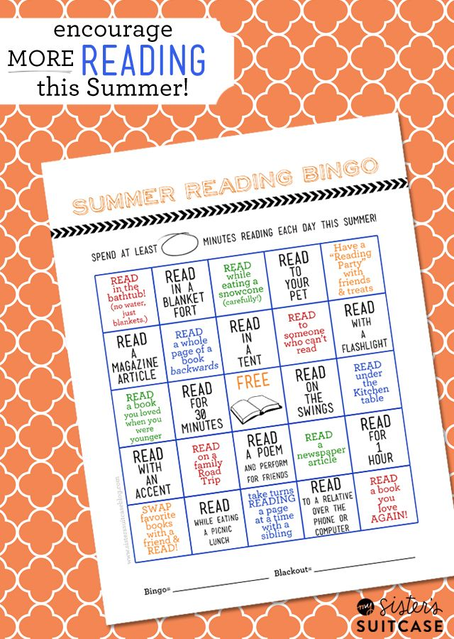 My Sister's Suitcase: Summer Reading Bingo Card + Printable Blog Hop