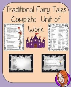 English Traditional Fairy Tales Writing  Complete 4 Week Unit of WorkThis download includes a complete four-week English unit on traditional fairy tales. Children will analyse and discuss stories in different medias and then create their own pieces of wri