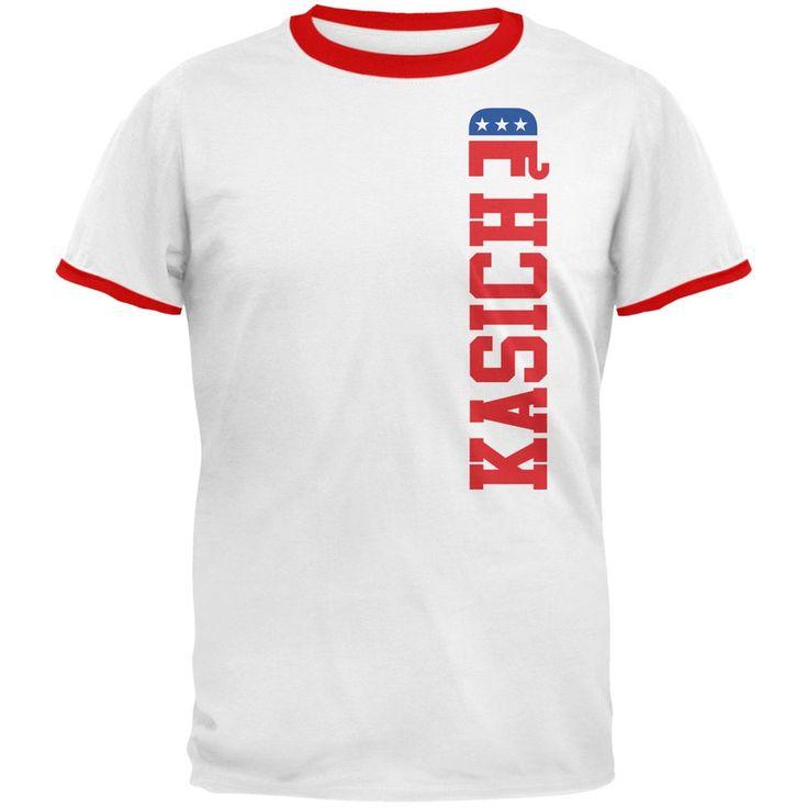 Election 2016 Team John Kasich White-Red Men's Ringer T-Shirt