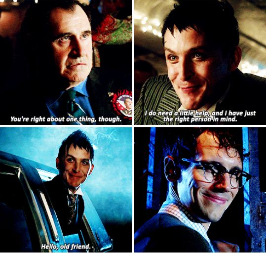 """I don't need a little help, and I have just the right person in mind"" - Oswald, Ed and Mayor James #Gotham ((Yess!!))"