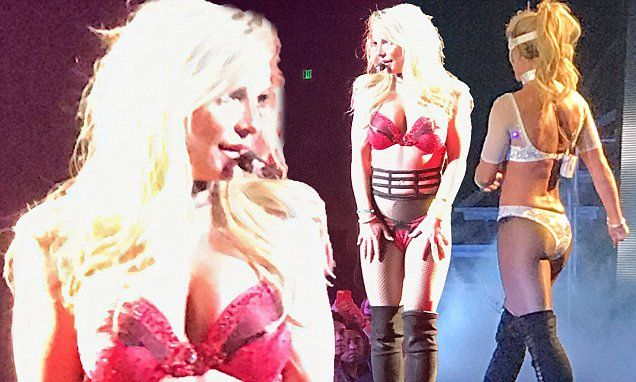 Britney Spears strips down to her lingerie for saucy Las Vegas show