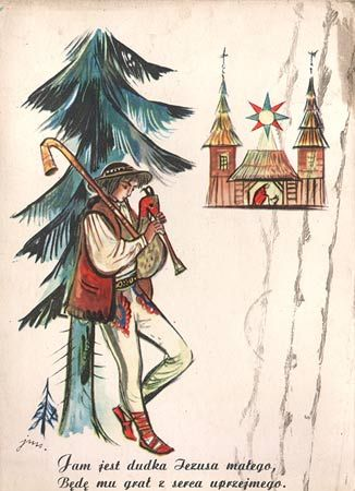 New Year postcard - before 1959