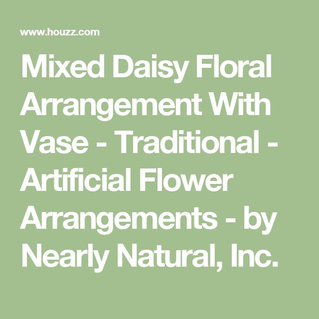 Mixed Daisy Floral Arrangement With Vase - Traditional - Artificial Flower Arrangements - by Nearly Natural, Inc.