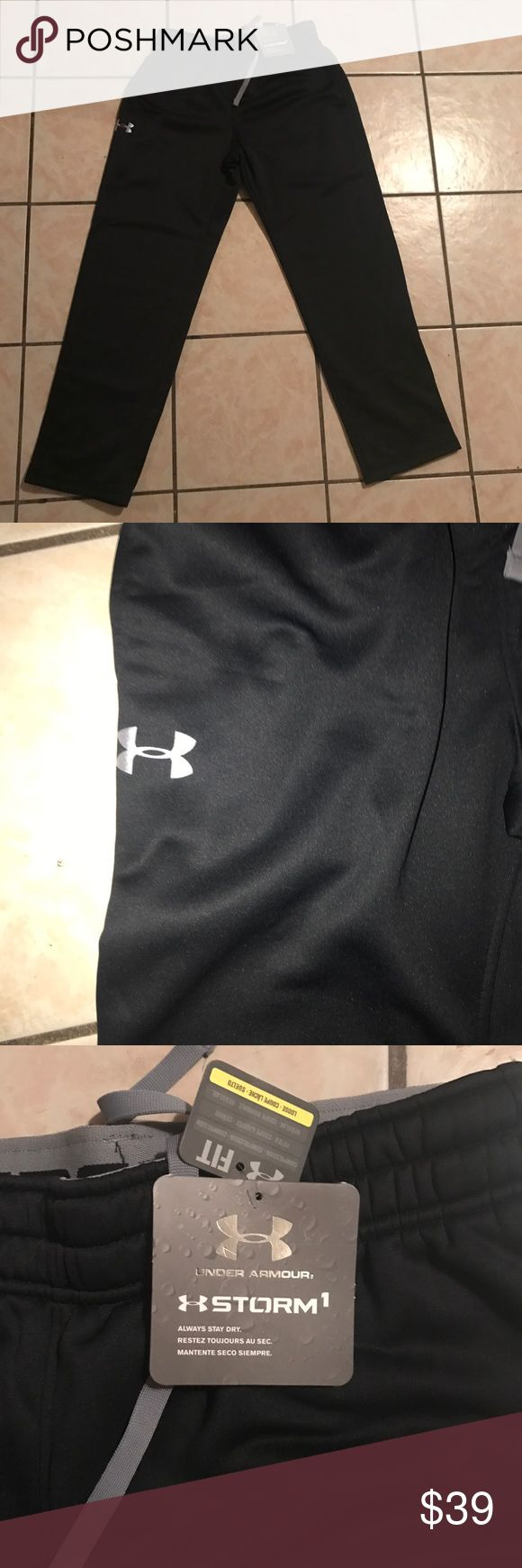 This is are New Mens Under Armour Pants Brand New Men's Under Armour Pants size L , color Black Under Armour Pants Sweatpants & Joggers