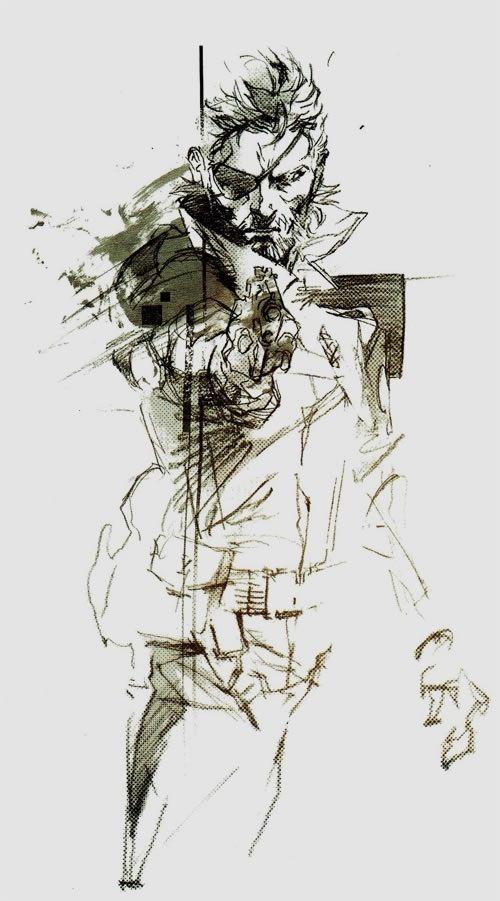 Metal Gear Solid, Big Boss by Yoji Shinkawa