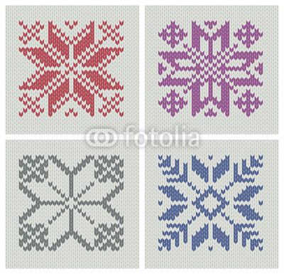 Nordic knitting seamless star patterns-Maybe i can figure out this knitting thing....