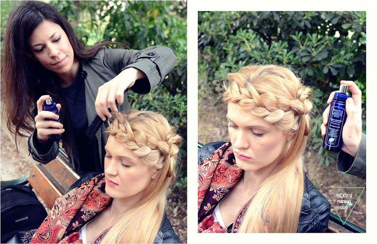 Backstage από την τελευταία φωτογράφιση του Tickityflippinboo Magazine στην οποία χρησιμοποιήθηκαν αποκλειστικά προϊόντα styling μαλλιών PHYTO Paris.