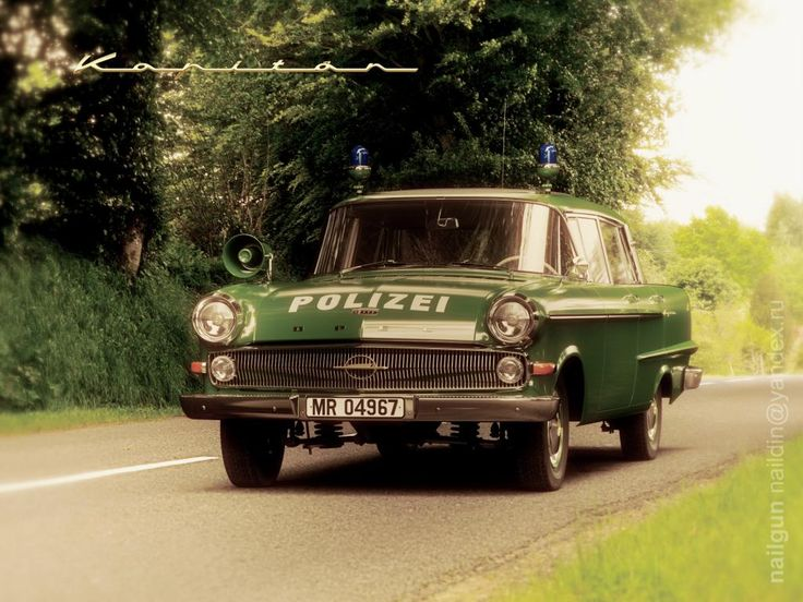 Opel Kapitan P2 Germany, 1960 Police Car