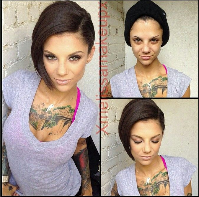 P*** stars without makeup