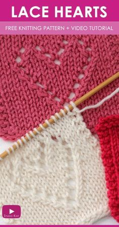 Como Knit Lace Knit Stitch Fácil Livre Knitting Pattern + Video Tutorial ...