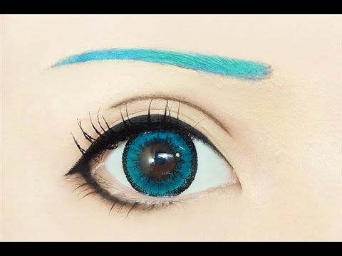 Tutorial : Anime Eye Makeup 191 • Hatsune Miku - YouTube