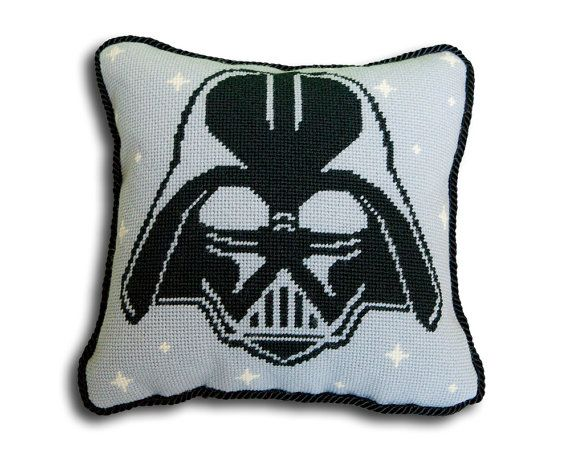 Star Wars Needlepoint Kit, Darth Vader Printed Needlepoint Canvas or Kit, Star Wars Decor, Diy 10x10 design, Modern Needlepoint Tapestry Kit