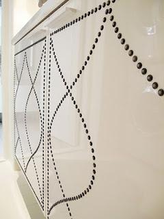 Ikea Besta nailhead detail