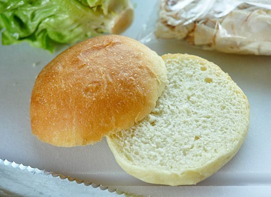 Homemade Hamburger Buns  Makes 8 buns    1 tablespoon active-dry yeast  1/2 cup (4 oz) warm water  1/2 cup (4 oz) milk (whole, 2%, or skim)  1 large egg  2 tablespoons vegetable oil  2 tablespoons sugar  1 teaspoon salt  3 cups (15 oz) all-purpose flour  1 tablespoon butter: Burgers Buns, Homemade Hamburg Buns, Homemade Hamburgers, Homemade Burgers, 2011 08 11 Burgerbuns9 Jpg, Homemade Buns, Homemade Hamburger Buns, Buns Recipe, Breads Rol
