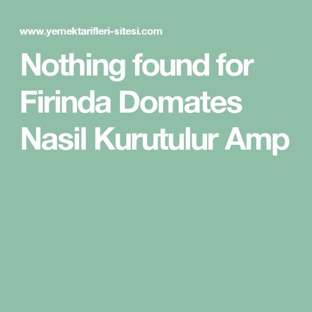 Nothing found for  Firinda Domates Nasil Kurutulur Amp