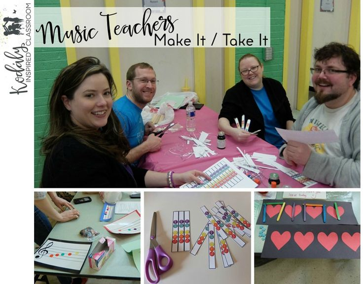 Last Winter I organized a Make It / Take It for the Kodaly Music Educators of Kansas.   I thought I would share with you what we did...