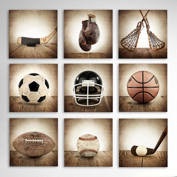 Vintage Square Sports Collection Set of Nine by shawnstpeter