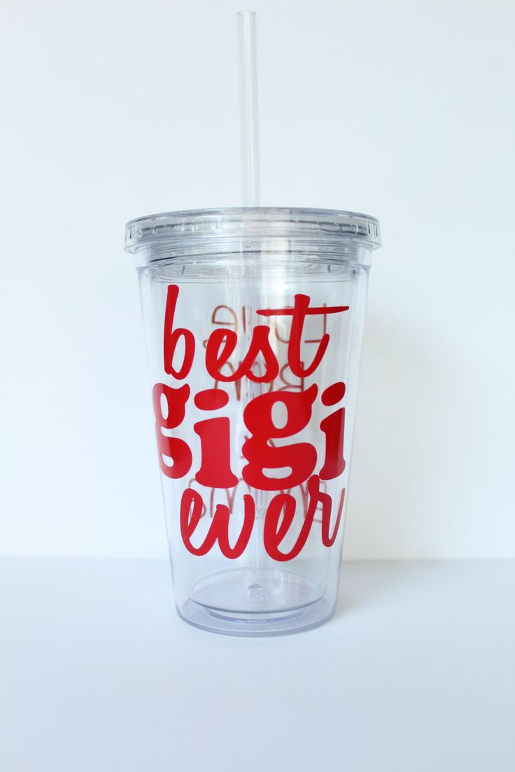 Big Top Cups With Straws : Personalized tumbler cup with lid and straw best gigi ever