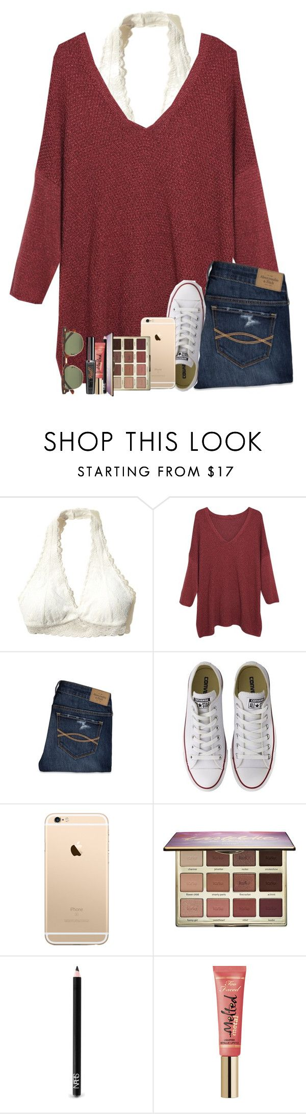 """""""{guys, I'm really sorry for my inactivity!!}"""" by southerngirl03 ❤ liked on Polyvore featuring Hollister Co., Violeta by Mango, Abercrombie & Fitch, Converse, tarte, NARS Cosmetics, Too Faced Cosmetics and Ray-Ban"""