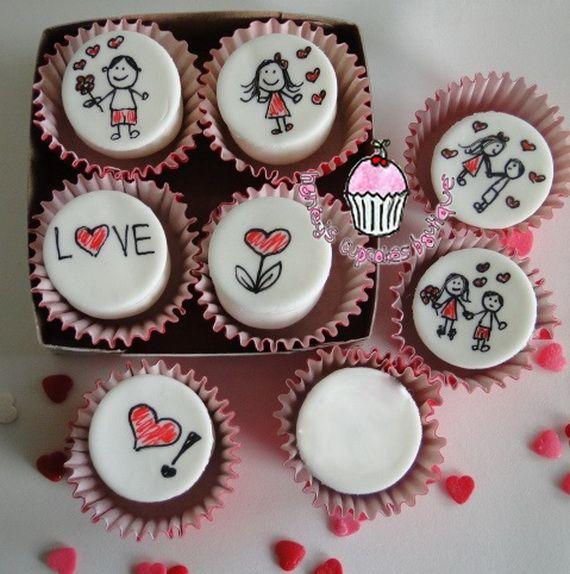 Ideas y material gratis para fiestas y celebraciones Oh My Fiesta!: Galería de cupcakes para San Valentín 4.