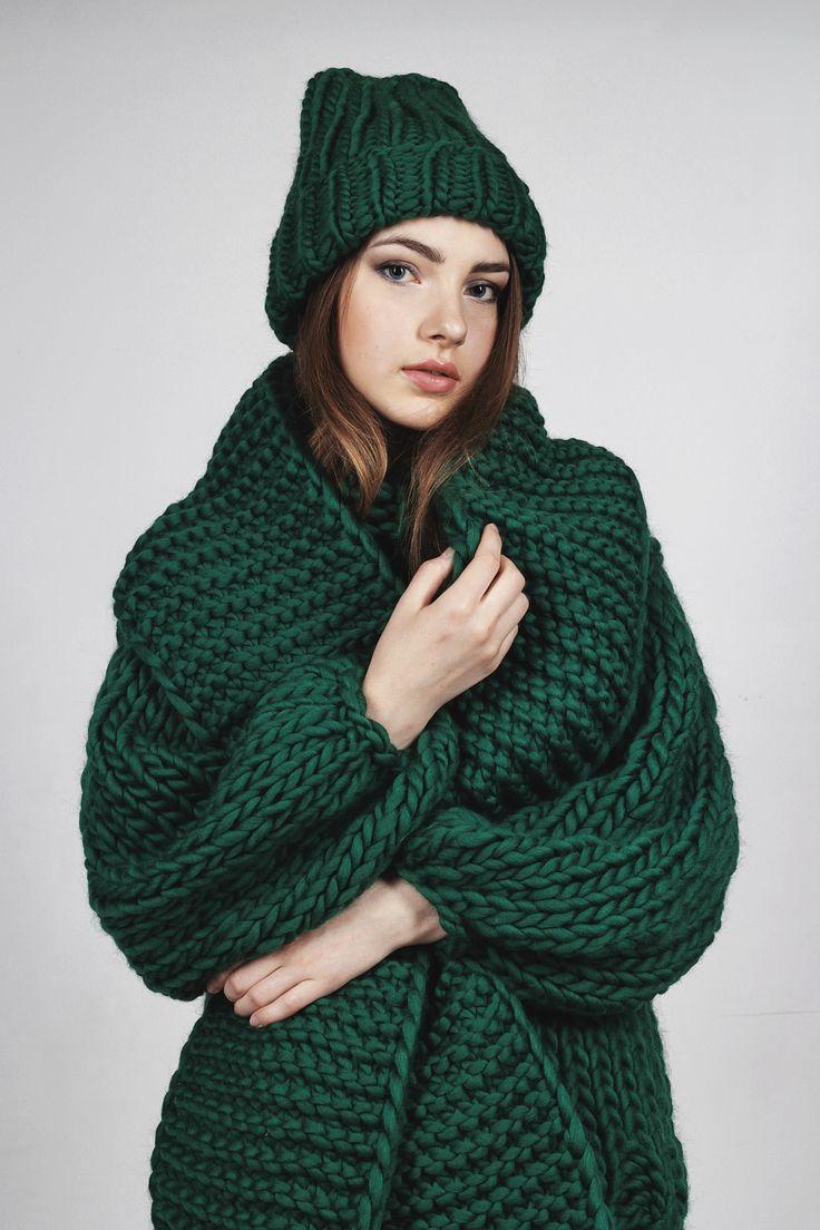 Вязаный свитер, шапка и шарф из пряжи #KeepCalmThisWool #WoolandMania Купить…
