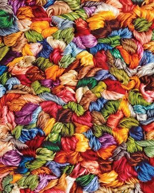 WISHLIST - Yards Of Yarn, a 1500 piece jigsaw puzzle by Springbok Puzzles.