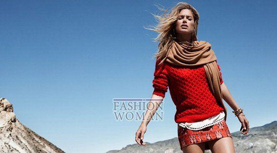 Даутцен Крус (Doutzen Kroes) продолжила свое сотрудничество с H&M. Топ-модель приняла участие в съемках для зимнего лукбука шведской марки. На фоне заснеженных гор девушка продемонстрировала теплые свитера, уютные джемперы