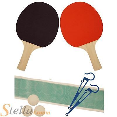 #Deluxe 2 player #table #tennis ping pong set 2 bats 3 balls & net,  View more on the LINK: 	http://www.zeppy.io/product/gb/2/400940277501/