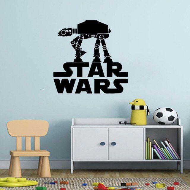 At At Walker Winylowe Naklejki Scienne Star Wars Logo Art Naklejki