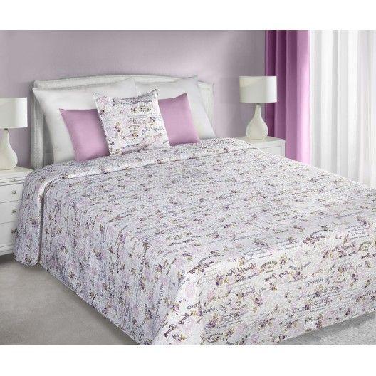 Oboustranné přehozy bílo růžové barvy na manželskou postel Beautiful Rose - dumdekorace.cz