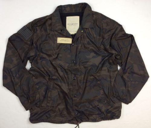 e50e079483b Denim   Supply Ralph Lauren Men USA Flag Military Army Camo Windbreaker  Jacket