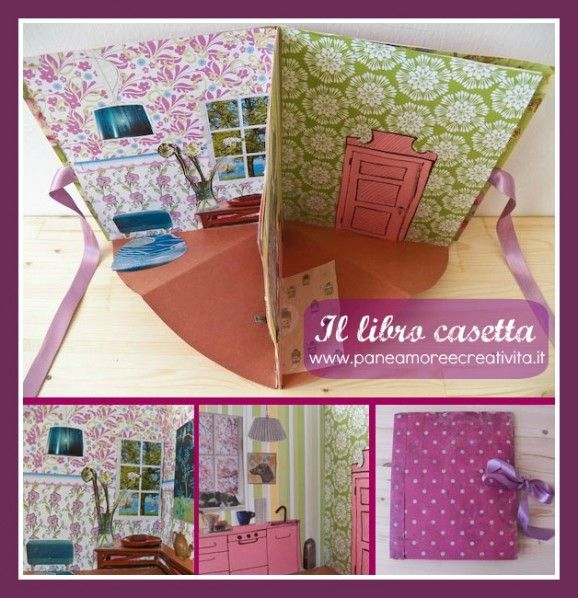 DIY pop up house book/card tutorial from paneamoreecreativita. the site is in italian.