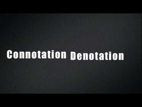 "FUN video to teach connotation and denotation - to the popular One Direction song ""You Don't Know You're Beautiful."" Connotation is a words suggested meaning or emotional association. Some words carry a positive connotation; some words carry a negative connotation. Denotation is the literal, dictionary definition of a word."
