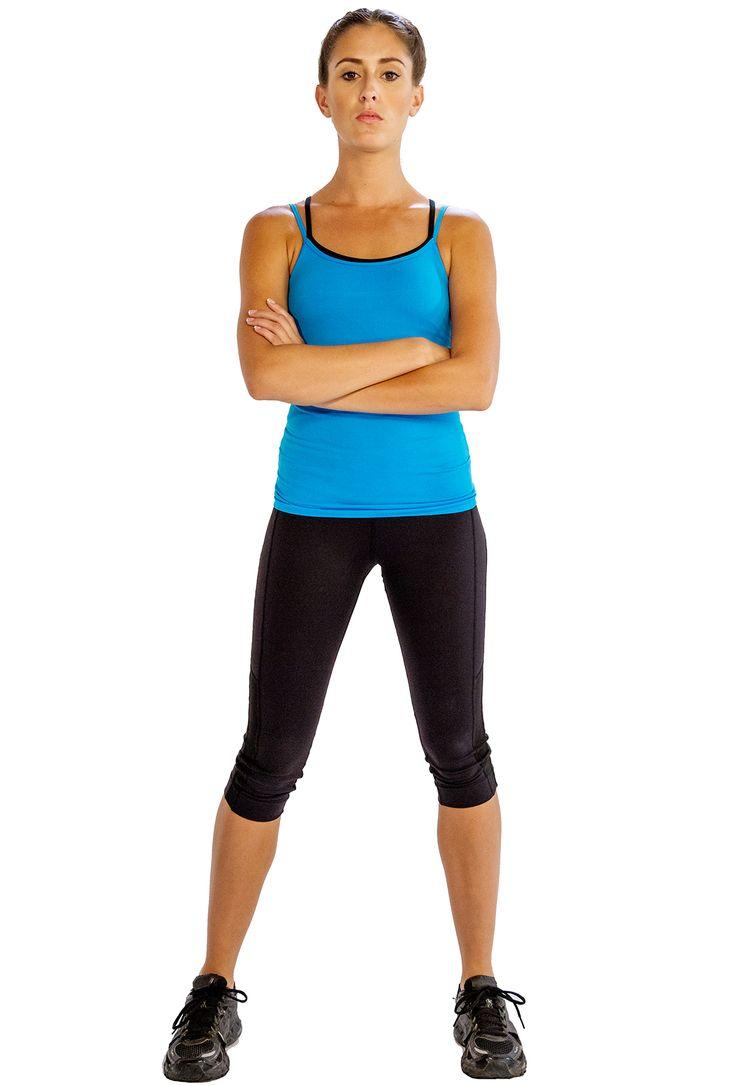 Black Stylish Three Quarter #Yoga #Leggings