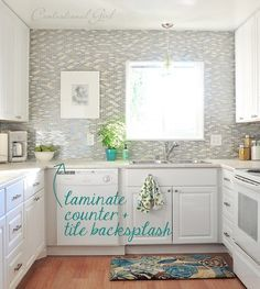 5 reasons to choose laminate kitchen countertops--I actually like laminate, these are great ways to make it look less laminate-y. :-)