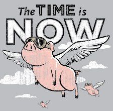 flying pig tatoo | TALKED! The Apocalypse has finally begun! Pigs are learning how to fly ...