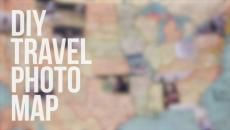 Turn pictures from your trips into art by making this DIY travel photo map.