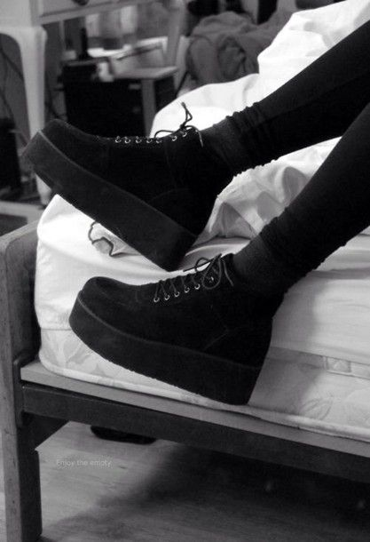Black platform shoes   Gothic style