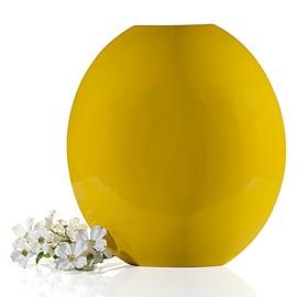 "Z Gallerie lemon-lacquered ""Mango"" vase.  Hand-formed of renewable bamboo."