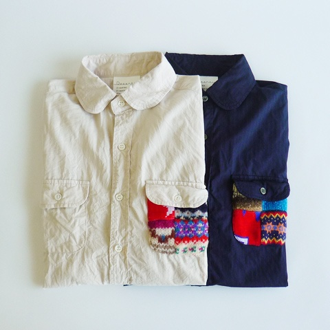 Desertic,Patchwork Pocket Herringbone Shirts - Silver and Gold Online Store ($100-200) - Svpply
