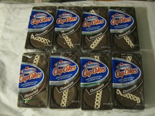 HOSTESS CupCakes 8 PACKS 2 cakes per package Best used by November  (purchase on ebay at craftiets*corner)
