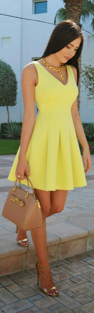 River Island Pastel Yellow Dress / Fashion by Laura Badura