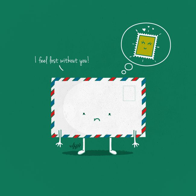 Funny Illustration   I feel lost without you   Created by NaBHaN via Design Inspiration