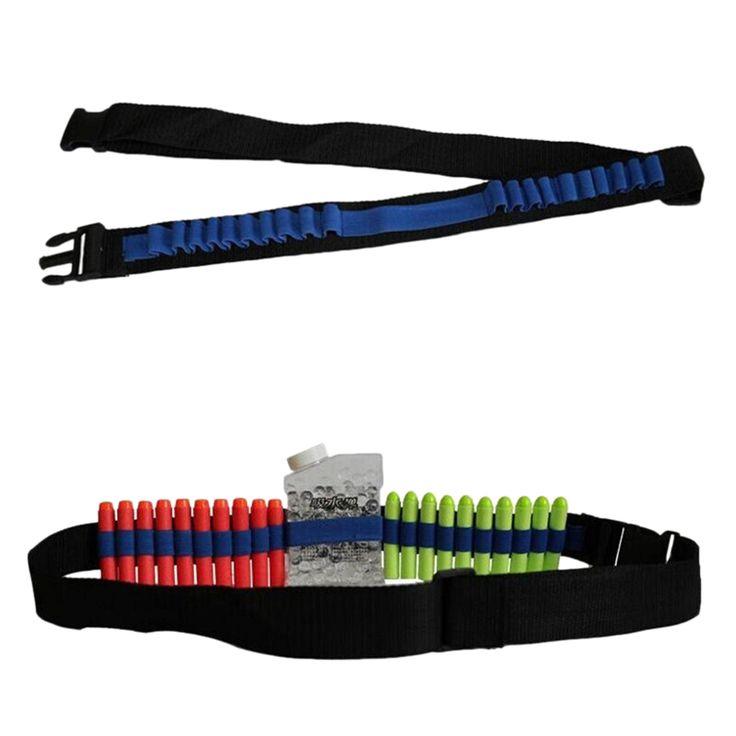 1Pc Newest Black Blue Bandolier Shoulder Strap For Toys Guns Bullet Nerf N-strike Blasters