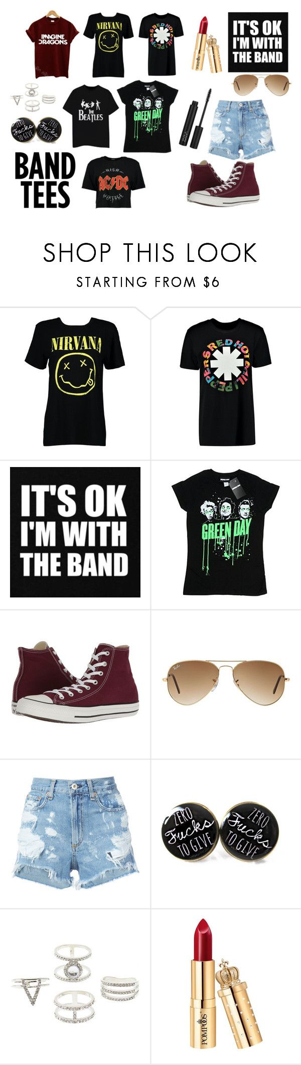"""""""There are many types of people V"""" by sophy-b ❤ liked on Polyvore featuring Boohoo, Converse, Ray-Ban, rag & bone/JEAN and Charlotte Russe"""